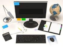 Escritorio de oficina Imagen de archivo libre de regalías