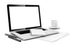 escritorio de oficina 3D Imagen de archivo