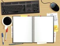 Escritorio de oficina desde arriba Ilustración del Vector