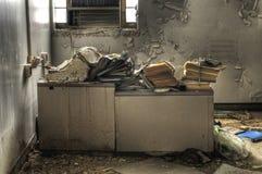 Escritorio de oficina viejo Fotografía de archivo
