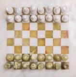 Escritorio del ajedrez Fotos de archivo