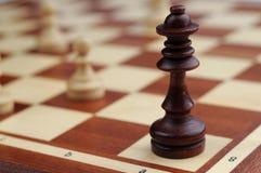 Escritorio del ajedrez Imagen de archivo libre de regalías