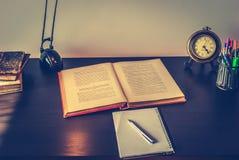 Escritorio del estudiante Imagen de archivo