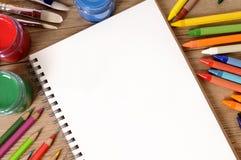 Escritorio del libro de escuela Imágenes de archivo libres de regalías