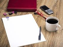 Escritorio del lugar de trabajo del negocio Imagen de archivo