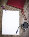 Escritorio del lugar de trabajo del negocio Fotos de archivo