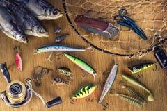 Escritorio del pescador Fotografía de archivo