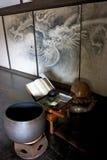 Escritorio del programa de escritura del daitokuji de Kyoto Foto de archivo libre de regalías