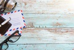 Escritorio en colores pastel Imágenes de archivo libres de regalías