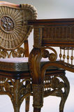 Escritorio y silla antiguos Imagen de archivo libre de regalías
