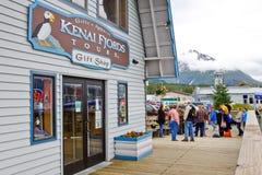 Escritório das excursões dos fiordes de Alaska Seward Kenai Fotos de Stock