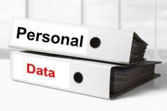 Escritório pessoal da pasta dos dados Fotos de Stock