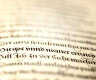 Escritura antigua del estilo Imagen de archivo libre de regalías