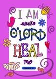Escritura Art Poster da Bíblia Foto de Stock Royalty Free