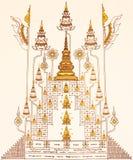 Escritura cabalística del estilo tailandés Fotografía de archivo libre de regalías