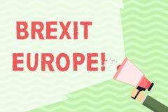 Escritura conceptual de la mano que muestra Brexit Europa Posibilidad de exhibición de la foto del negocio de Gran Bretaña que se ilustración del vector