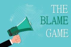 Escritura conceptual de la mano que muestra el juego de la culpa Foto del negocio que muestra la situación de A cuando la gente i libre illustration