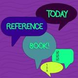 Escritura conceptual de la mano que muestra el libro de consulta Libro de texto de la foto del negocio que se consultar? para la  stock de ilustración