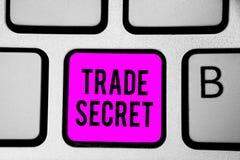 Escritura conceptual de la mano que muestra el secreto comercial Información confidencial del texto de la foto del negocio sobre  imagenes de archivo
