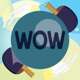 Escritura conceptual de la mano que muestra el wow El texto de la foto del negocio que expresa éxito histórico del asombro y del  libre illustration