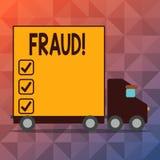 Escritura conceptual de la mano que muestra fraude Engaño criminal del texto de la foto del negocio a conseguir aumento financier stock de ilustración
