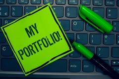 Escritura conceptual de la mano que muestra a mi cartera llamada de motivación Muestras del texto de la foto del negocio de fotog fotografía de archivo libre de regalías
