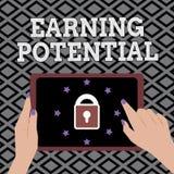 Escritura conceptual de la mano que muestra potencial de la ganancia Foto del negocio que muestra el sueldo superior para un camp libre illustration