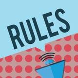 Escritura conceptual de la mano que muestra reglas Autoridad del poder del ejercicio del texto de la foto del negocio última sobr libre illustration