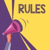 Escritura conceptual de la mano que muestra reglas Autoridad del poder del ejercicio del texto de la foto del negocio última sobr ilustración del vector