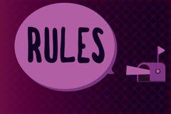 Escritura conceptual de la mano que muestra reglas Autoridad de exhibición del poder del ejercicio de la foto del negocio última  libre illustration