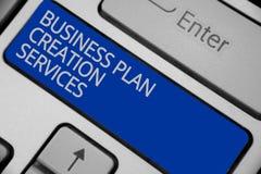 Escritura conceptual de la mano que muestra servicios de la creación del plan empresarial Texto de la foto del negocio que paga p imagen de archivo