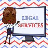 Escritura conceptual de la mano que muestra servicios jur?dicos Texto de la foto del negocio que proporciona el acceso a la igual libre illustration