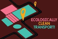 Escritura conceptual de la mano que muestra transporte ecológicamente limpio Foto del negocio que muestra el vehículo verde ambie libre illustration