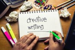 Escritura creativa Fotos de archivo libres de regalías