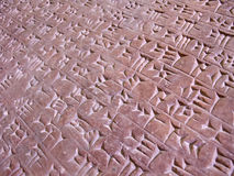 Escritura cuneiforme Imagenes de archivo