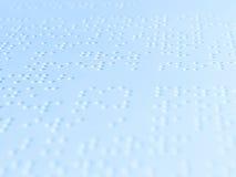 Escritura de Braille Fotos de archivo