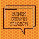 Escritura de estrategia del crecimiento del negocio de demostración de la nota Adquisición más grande de exhibición de la penetra stock de ilustración