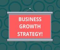 Escritura de estrategia del crecimiento del negocio de demostración de la nota Adquisición más grande de exhibición de la penetra libre illustration