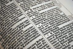 Escritura de la biblia Fotografía de archivo libre de regalías