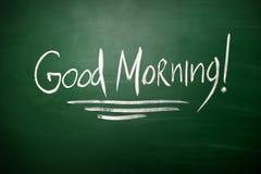 Escritura de la buena mañana, escrita con tiza Foto de archivo