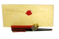 Escritura de la carta imagen de archivo libre de regalías