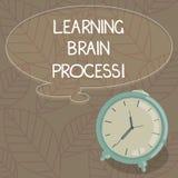Escritura de la demostración de la nota que aprende a Brain Process Foto del negocio que muestra adquiriendo nuevo o de modificac ilustración del vector