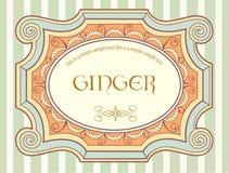 Escritura de la etiqueta 3 de la vendimia Imagen de archivo libre de regalías