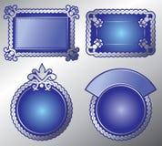 Escritura de la etiqueta adornada rica. Vector, editable Imagen de archivo libre de regalías