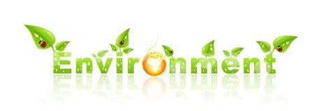 Escritura de la etiqueta ambiental ilustración del vector