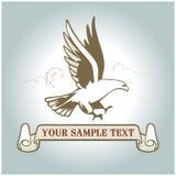 Escritura de la etiqueta americana del águila Foto de archivo