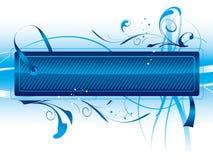 Escritura de la etiqueta azul Fotos de archivo libres de regalías