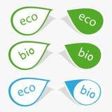 Escritura de la etiqueta bio y del eco Foto de archivo