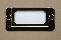 Escritura de la etiqueta blanca de la tarjeta Imagenes de archivo