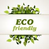 Escritura de la etiqueta cómoda de Eco Fotografía de archivo